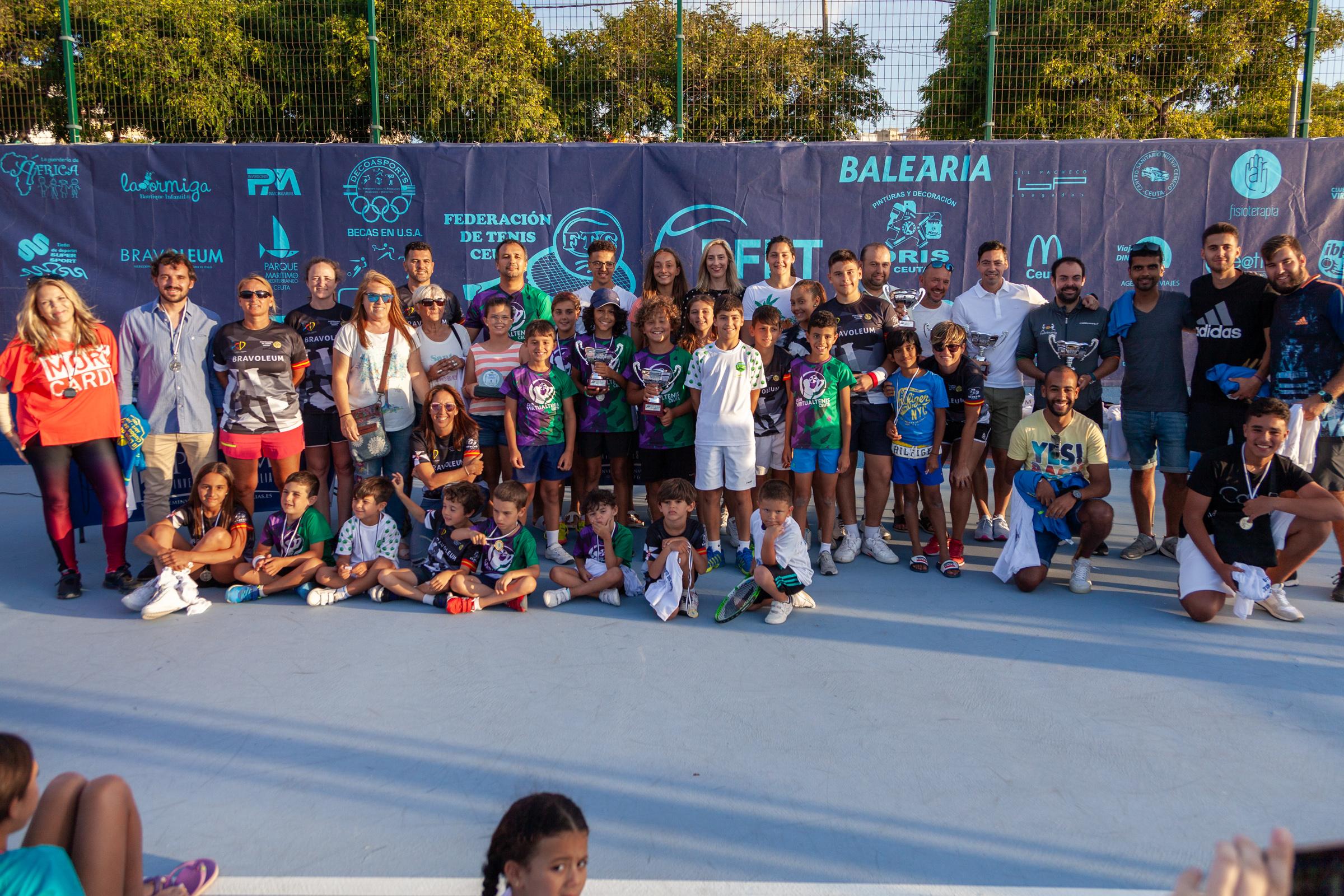 Trofeos II Torneo Minitenis «Memorial Tele» y II Liga de Tenis Ciudad de Ceuta