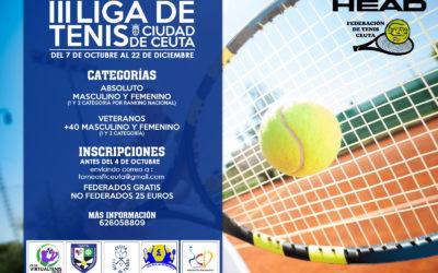 La Federación de Tenis de Ceuta Convoca la III Liga de Tenis 'Ciudad de Ceuta'