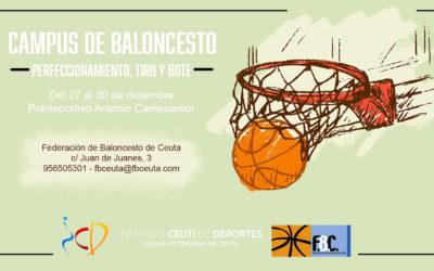 La Federación de Baloncesto de Ceuta abre las inscripciones para su campus navideño