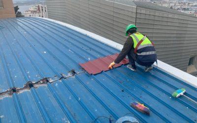 El ICD inicia los trabajos de reparación de la cubierta del Guillermo Molina