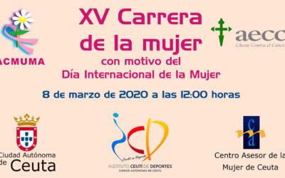 La XV Carrera de la Mujer de Ceuta se celebrará el 8 de marzo de 2020