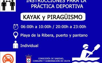 El Gobierno informa de medidas adicionales para la práctica deportiva en Ceuta