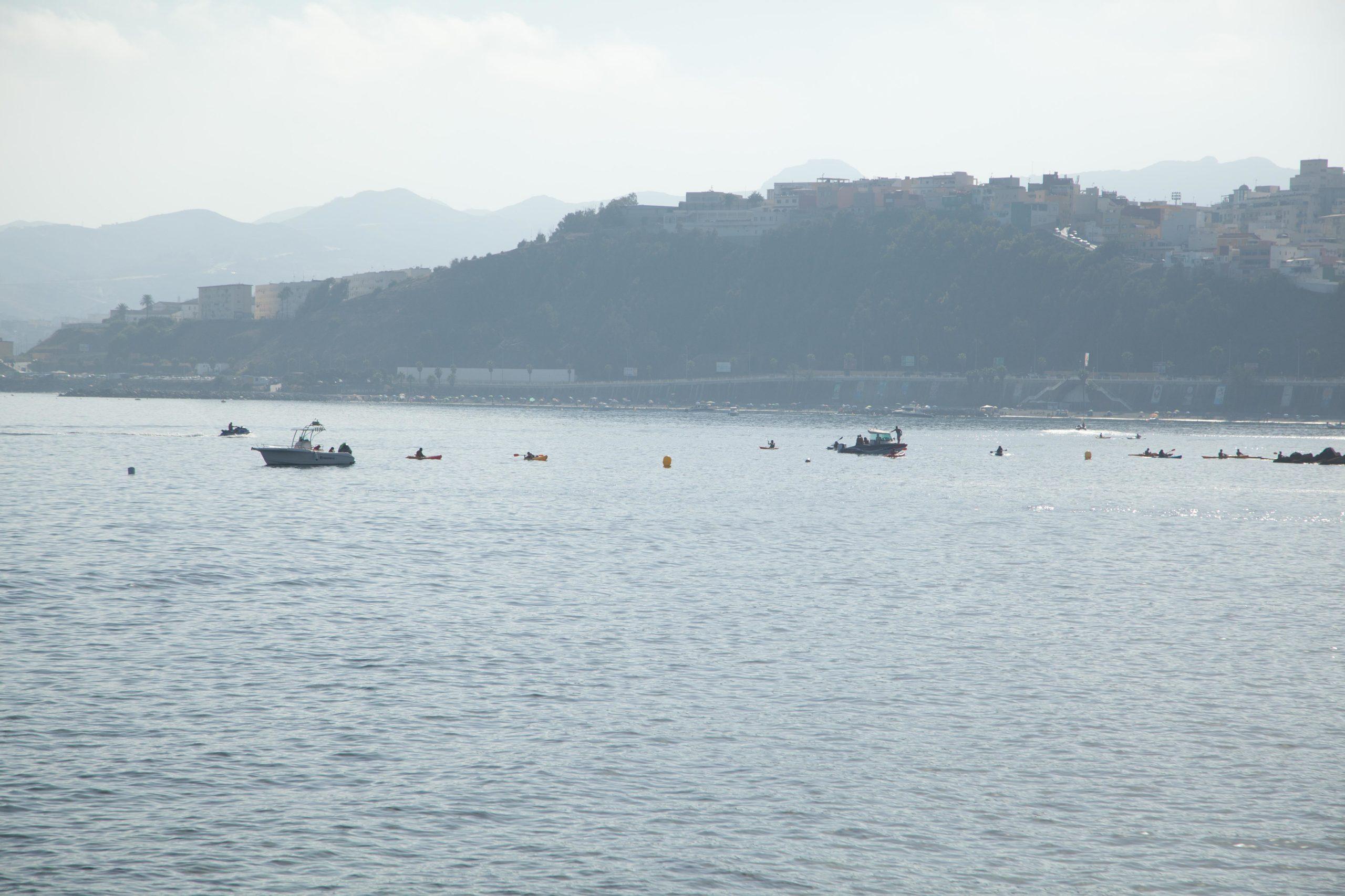 Canal de nado en Ceuta aguas abiertas