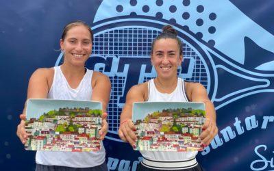 Olga Parres, campeona de dobles en Santarem junto a Francisca Jorge