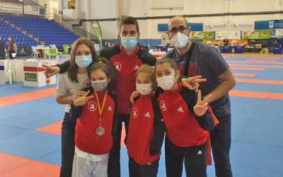 Las karatecas ceutíes brillan en la liga nacional de Málaga