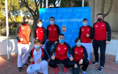 Los karatecas ceutíes participan en la primera liga del año