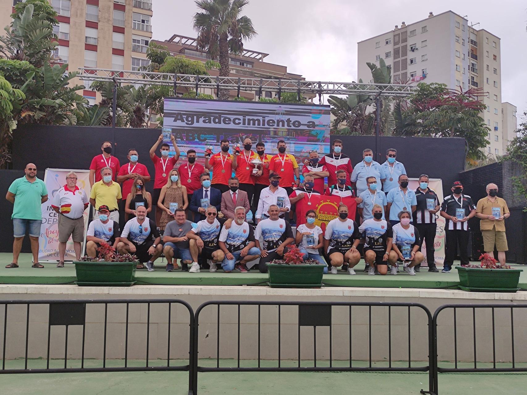 Éxito en la edición 54 del Campeonato de España de clubes de Petanca de tripleta masculino