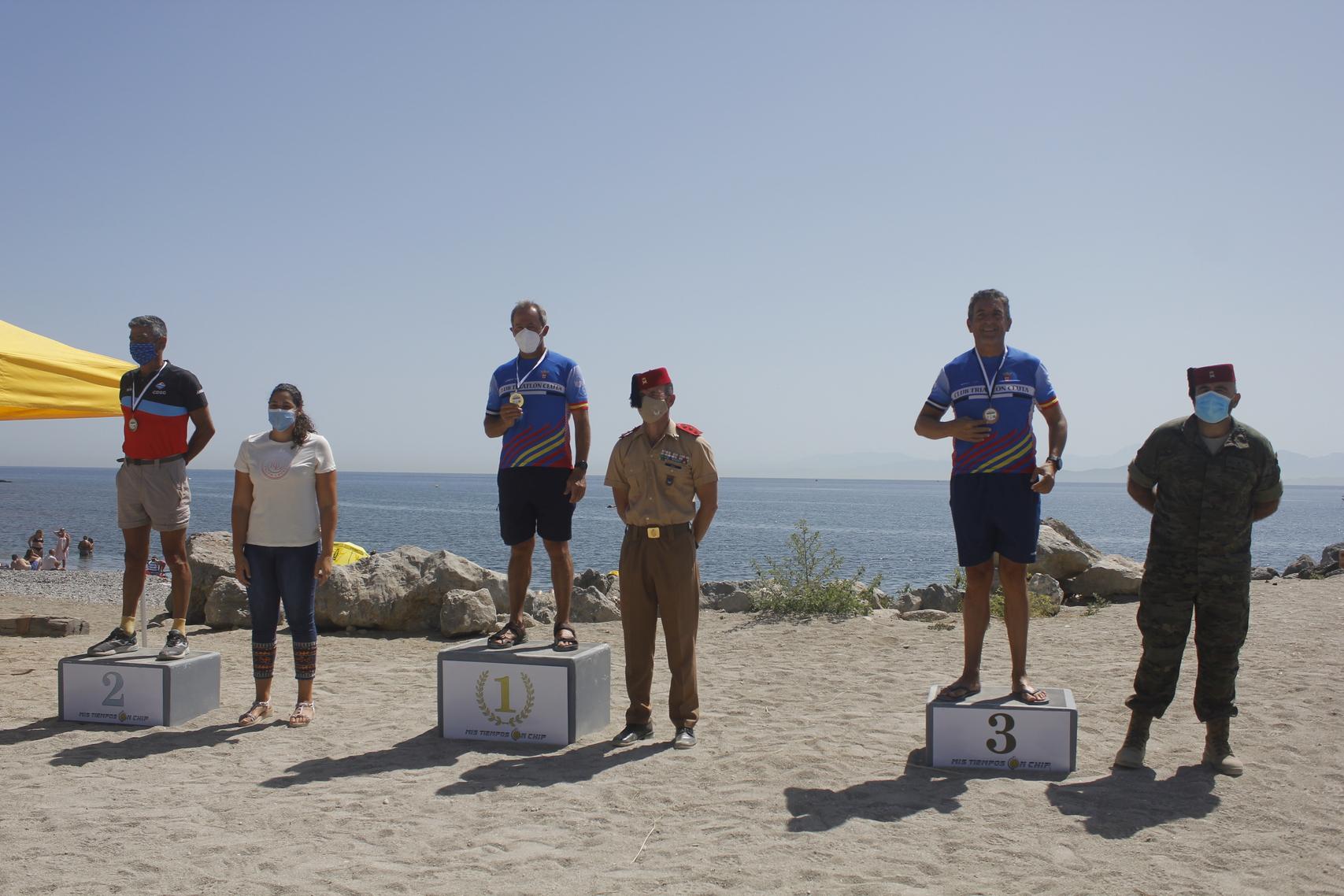 La II Vuelta a Ceuta a nado termina con Manuel Pastor como ganador