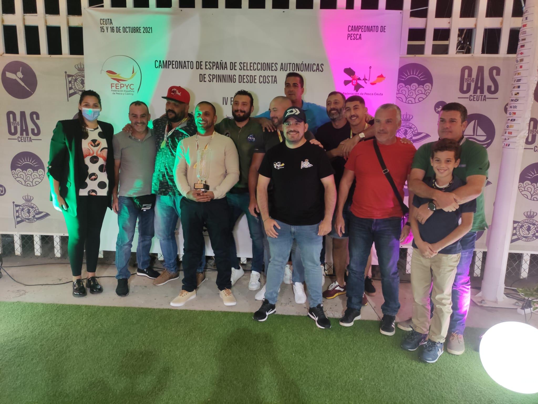 Ceuta triunfa en el IV Campeonato de Pesca Spinning desde Costa